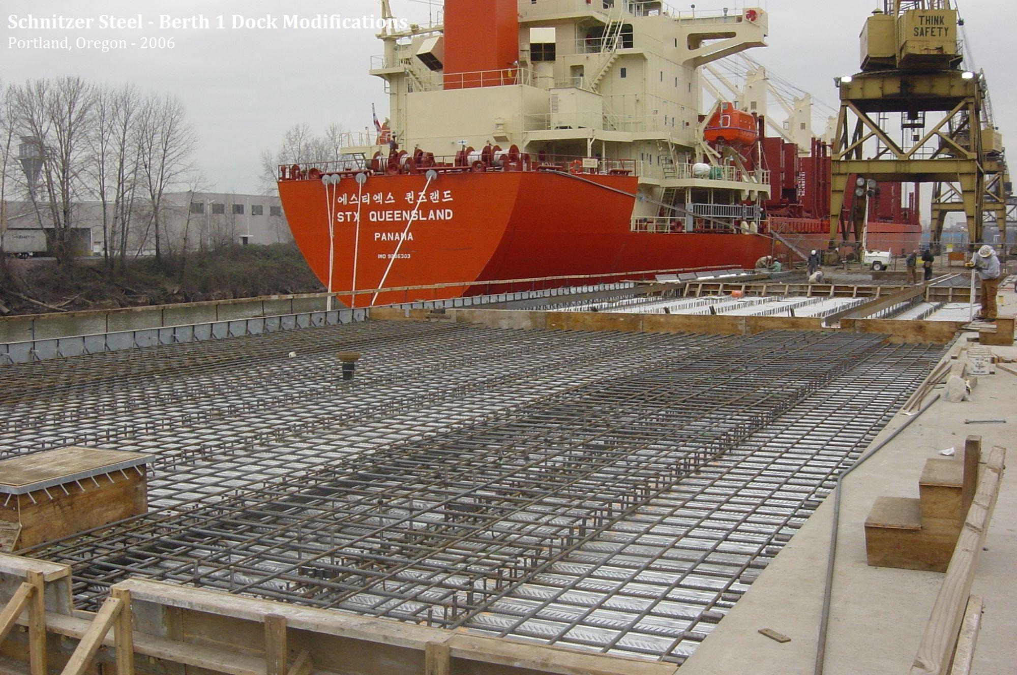 Schnitzer Steel Berth Dock - Schnitzer scrap